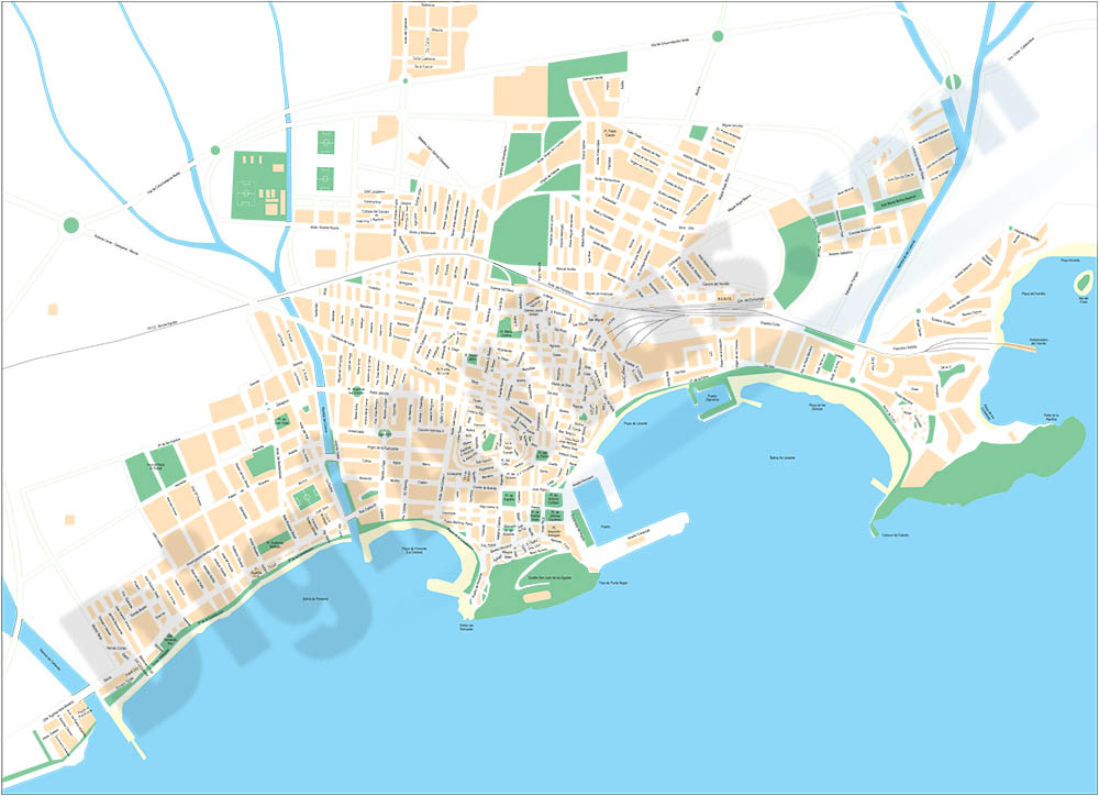 Aguilas (Murcia) - city map