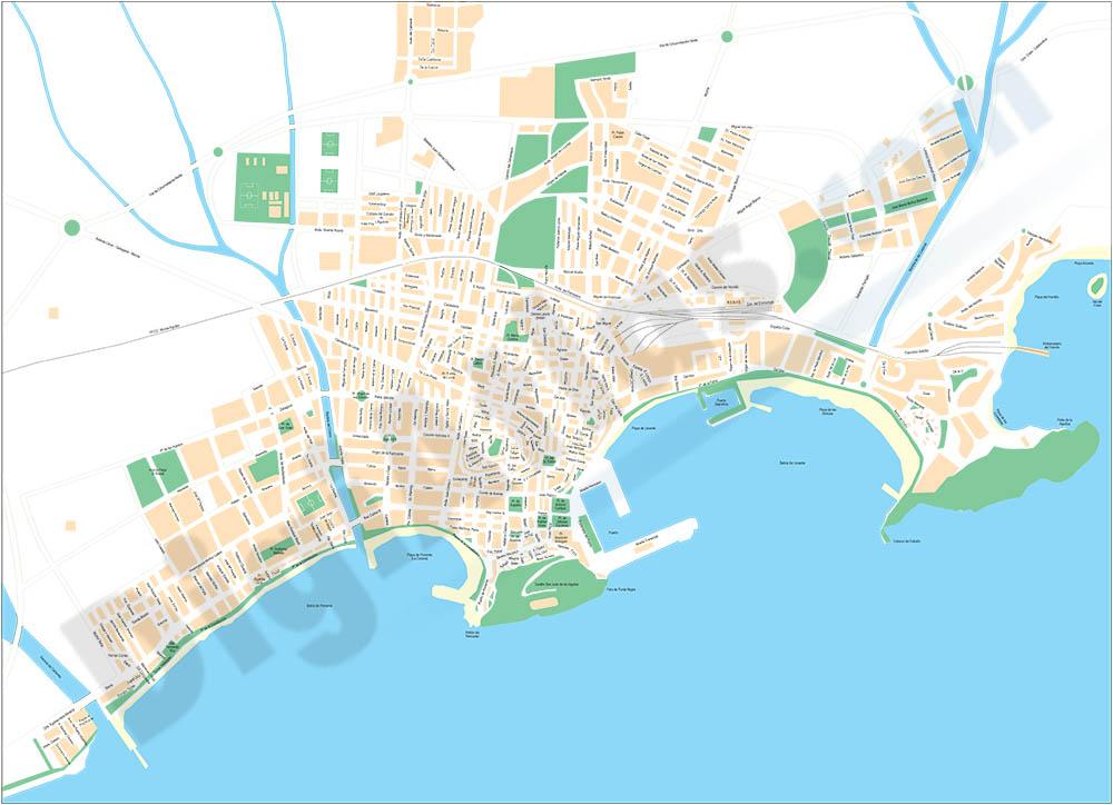 Aguilas (Murcia) - plano callejero