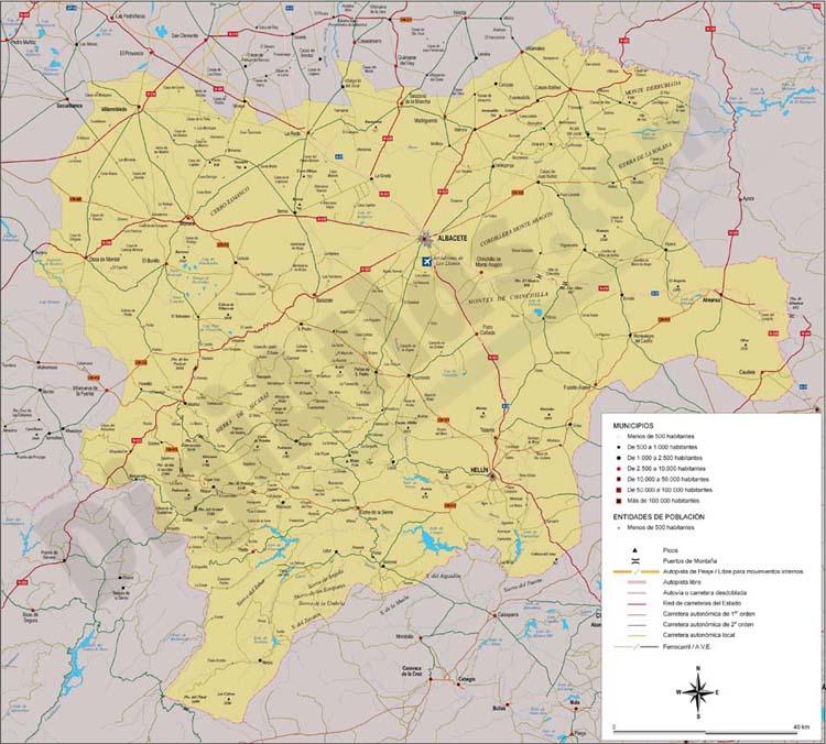 Map of Albacete