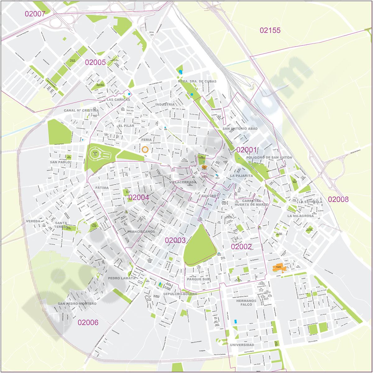 Albacete - city map
