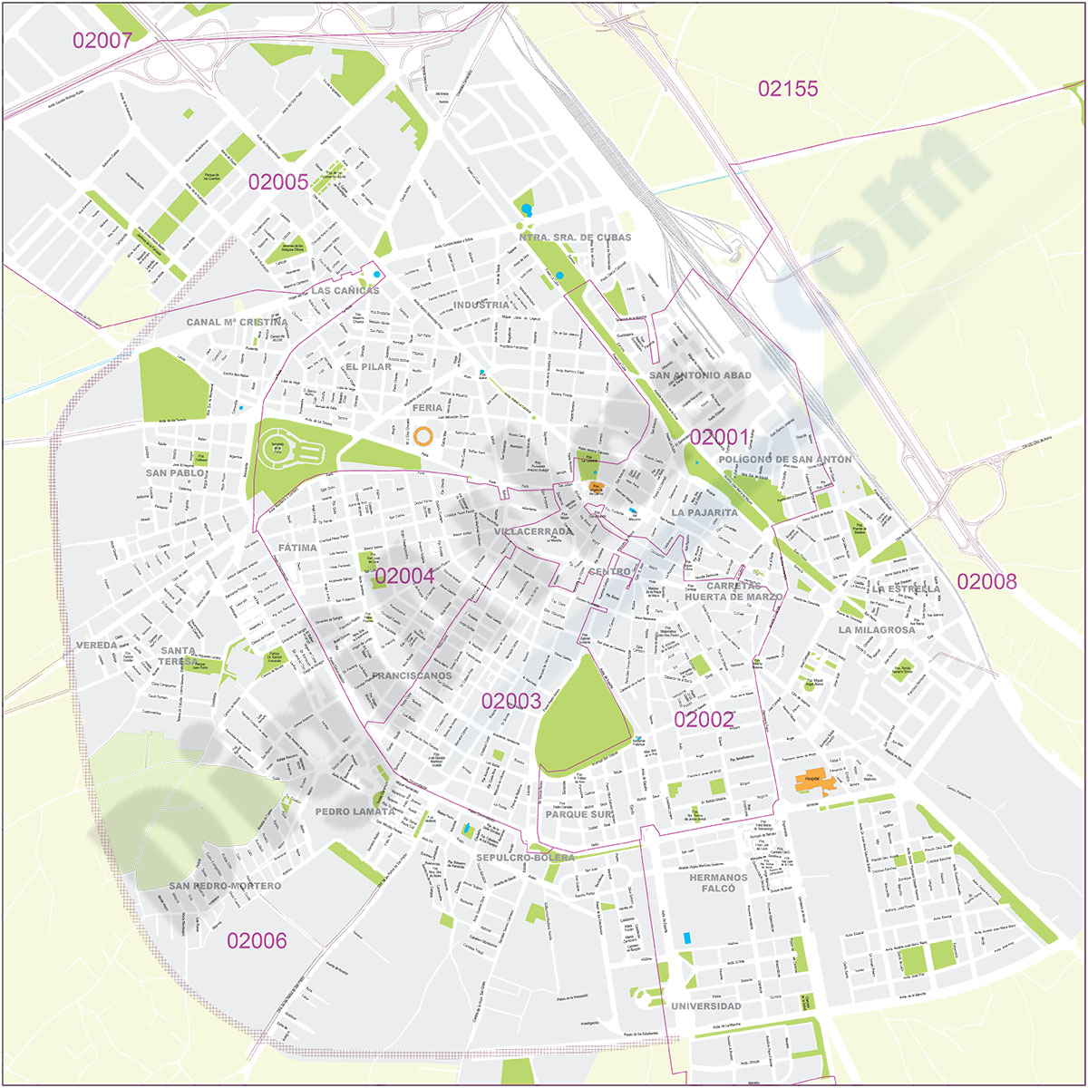 Albacete - city map