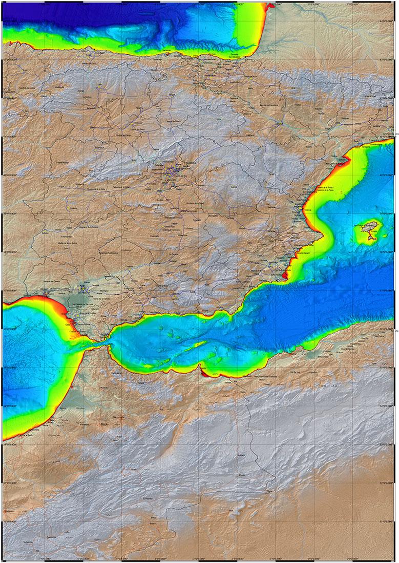 Mapa de Alborán