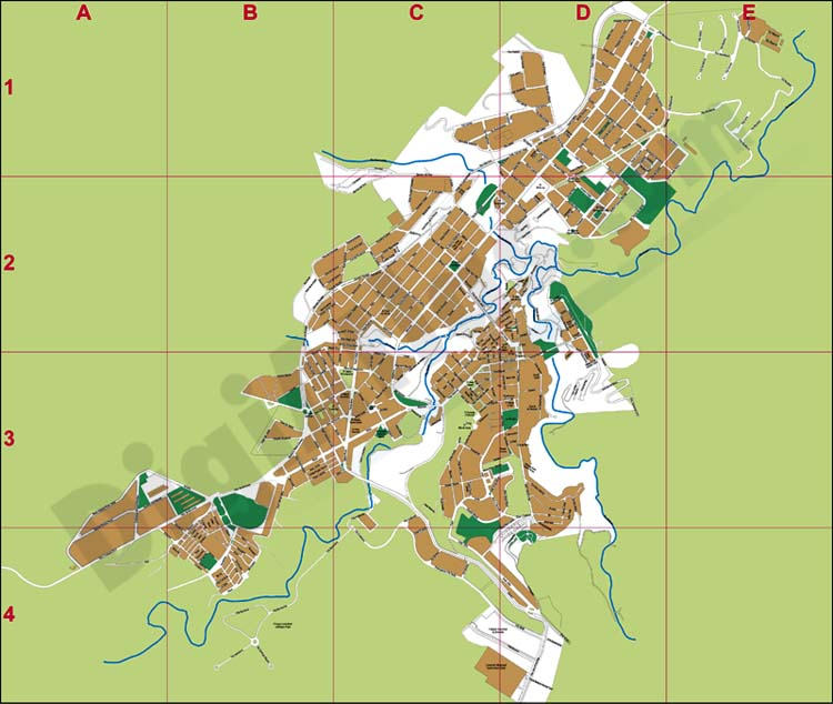 Alcoi (Alcoy) city map