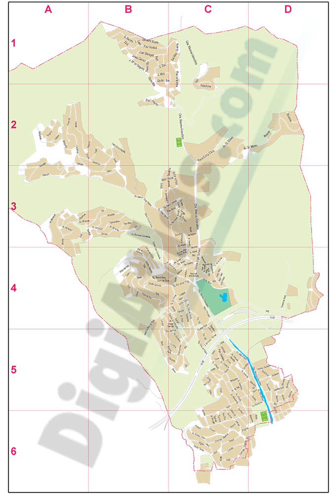 Alella (Barcelona) - city map