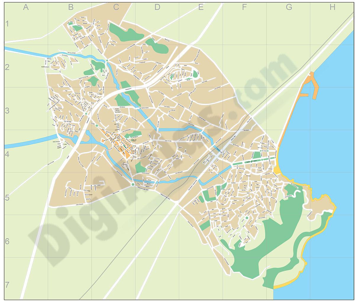Alfàs del Pi (Alicante) - plano callejero