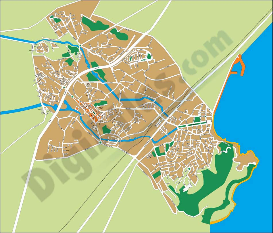 Alfàs del Pi (province of Alicante) - city map
