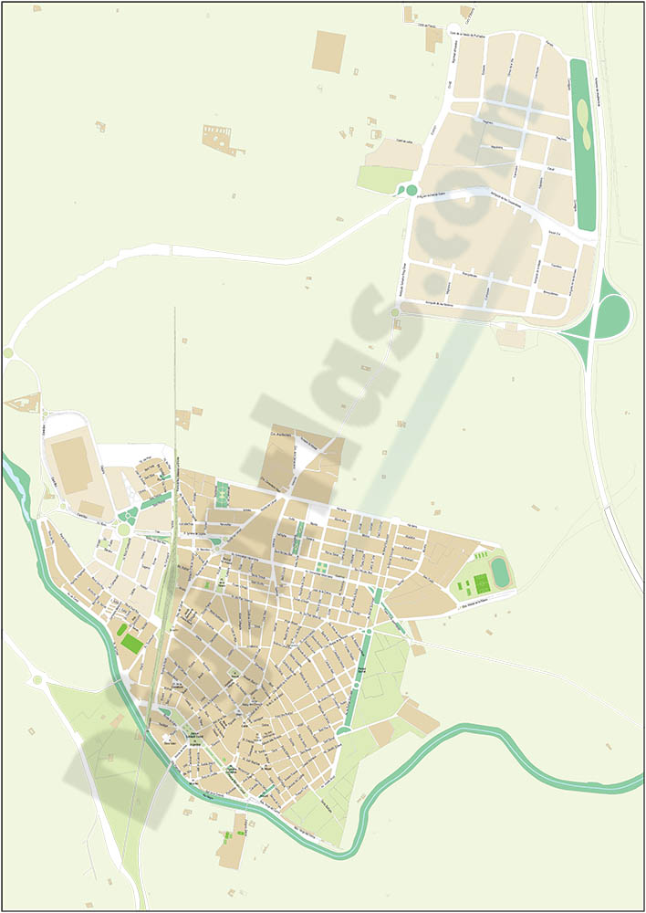Algemesi - city map
