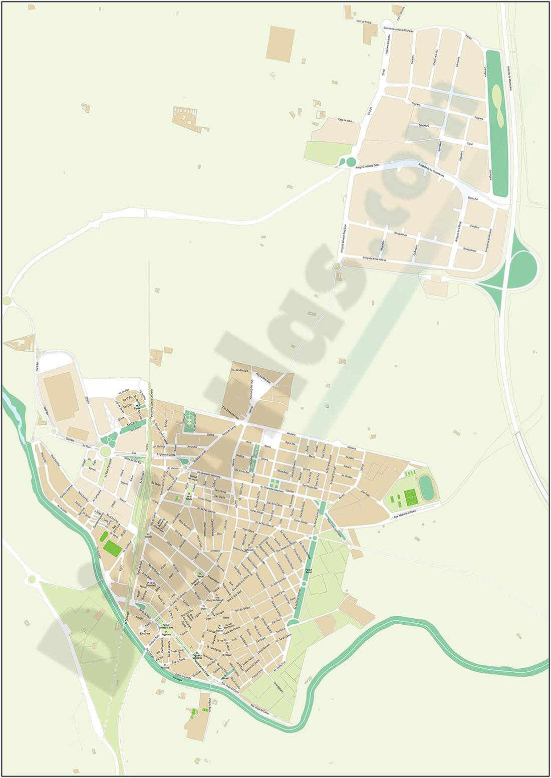 Algemesi - city map