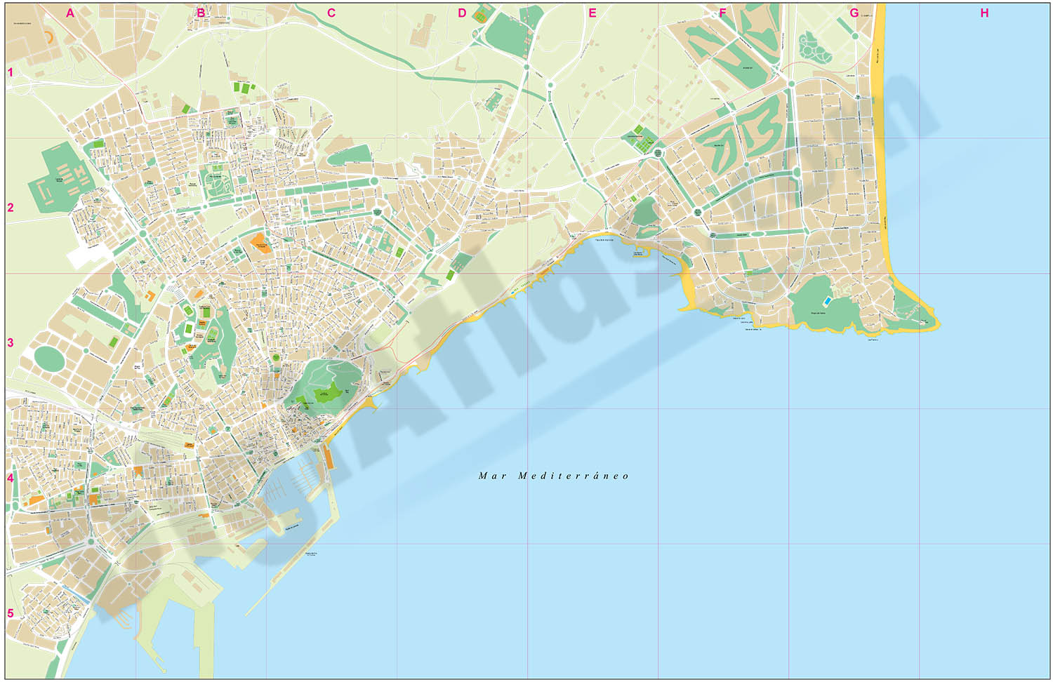 Alicante city map