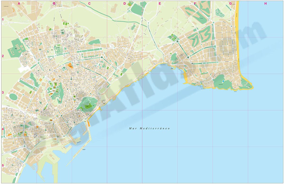 Alicante city map