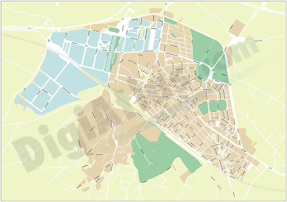 Almansa - city map