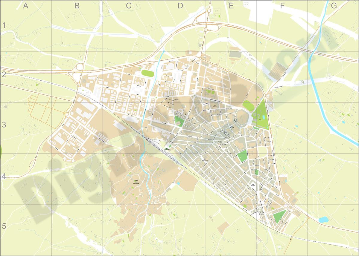 Almansa - plano callejero