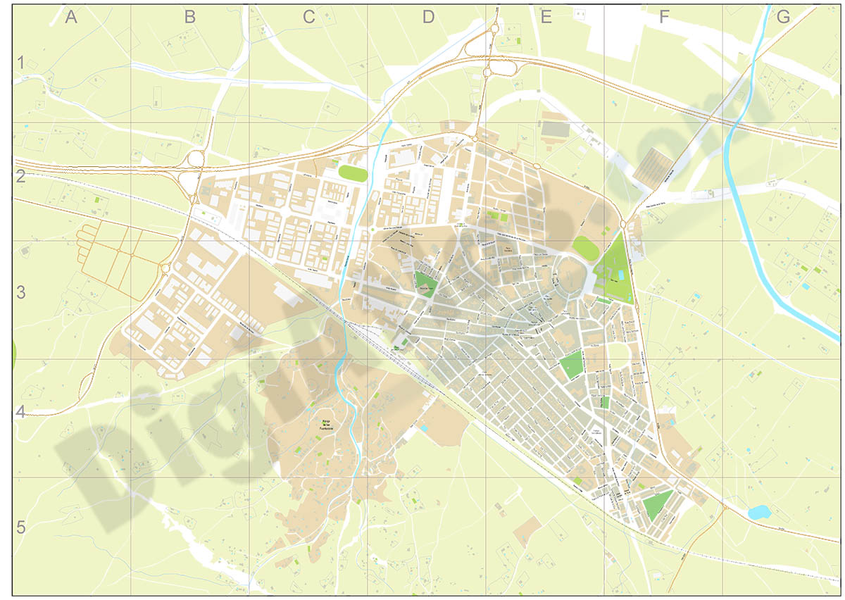 Almansa - city map