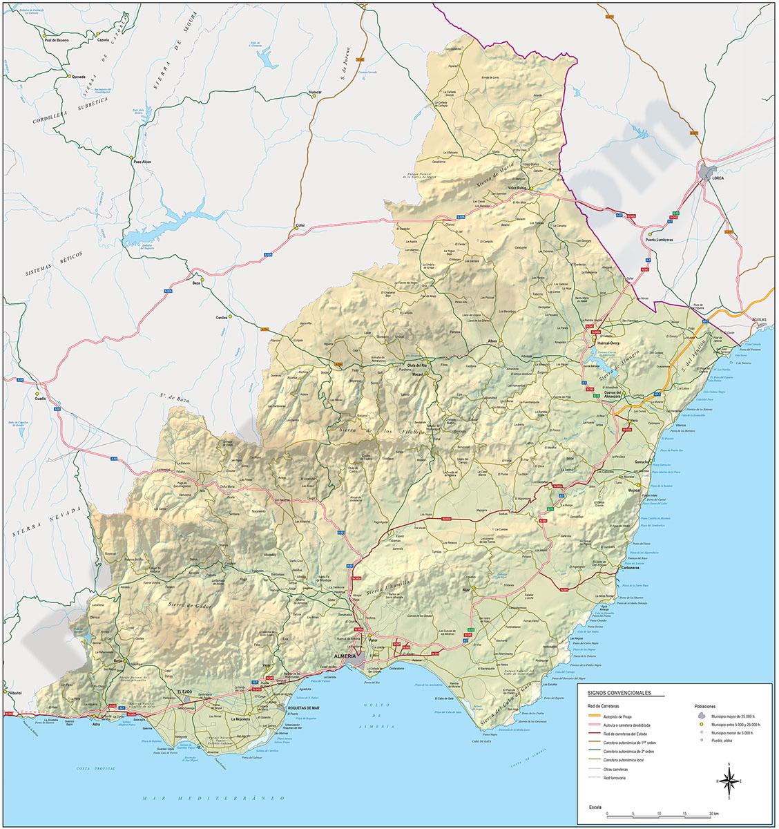 Mapa Carreteras Almeria
