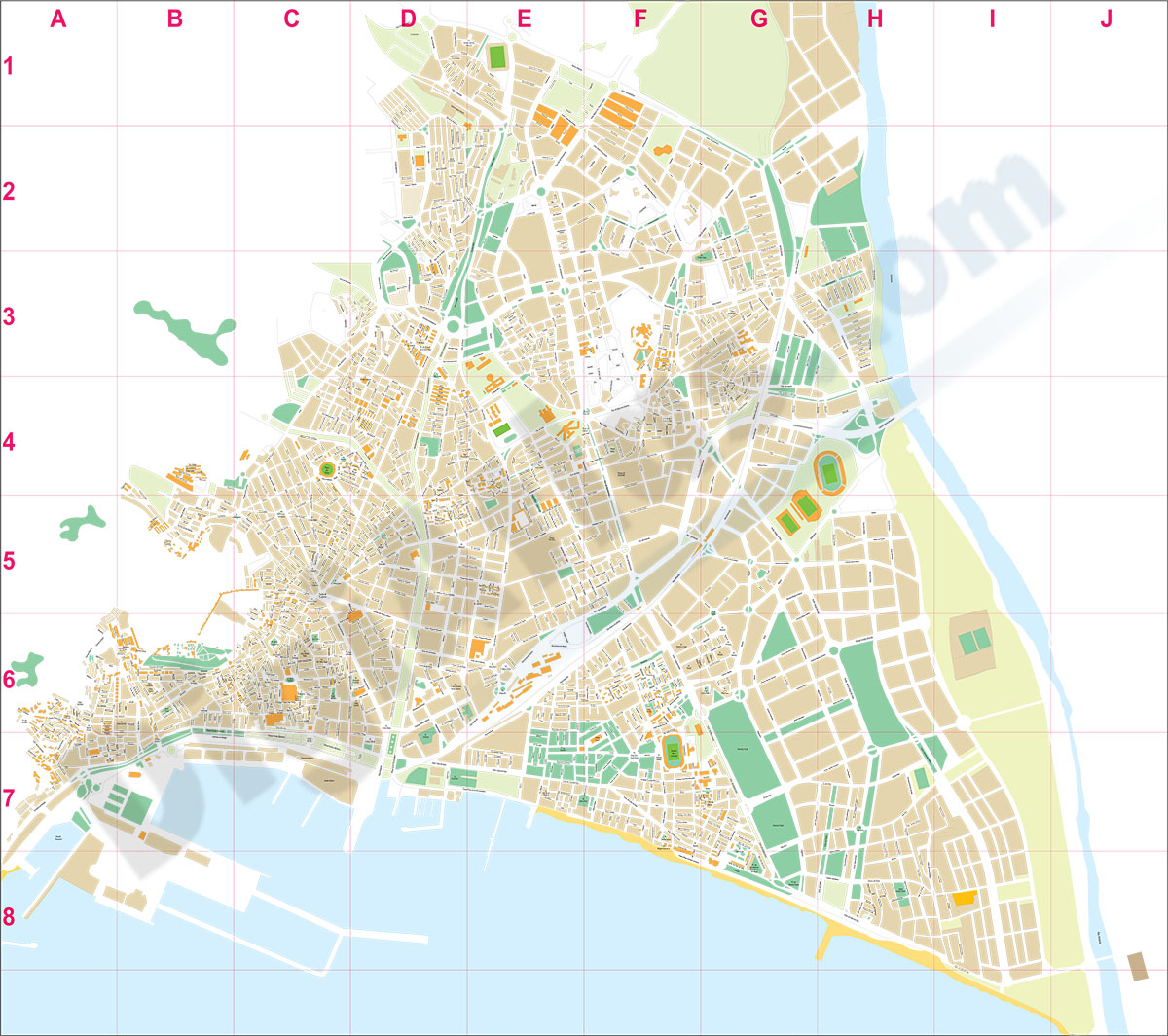 Almeria city map