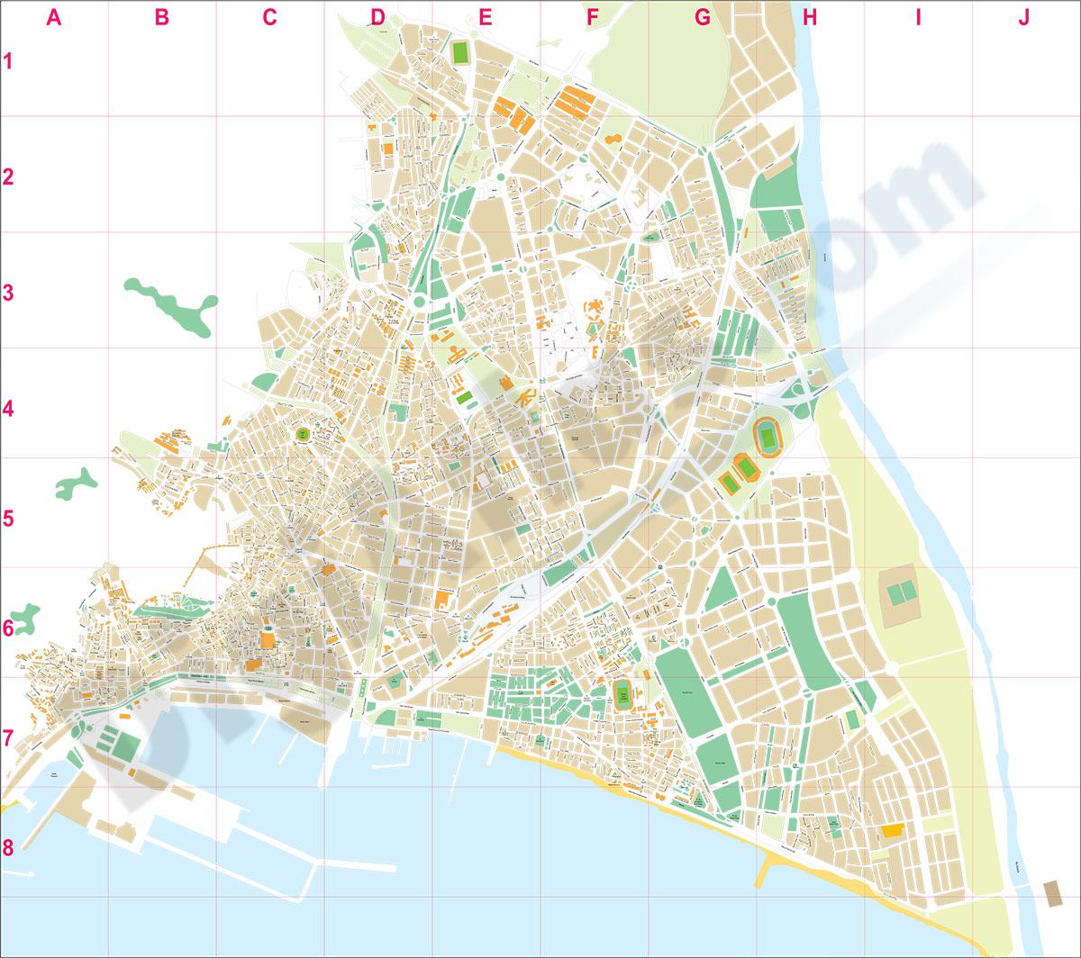 Almeria city map