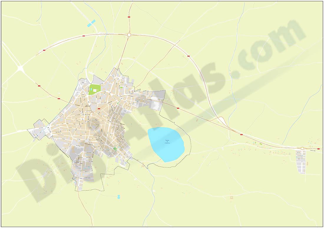 Almodóvar del Campo - city map