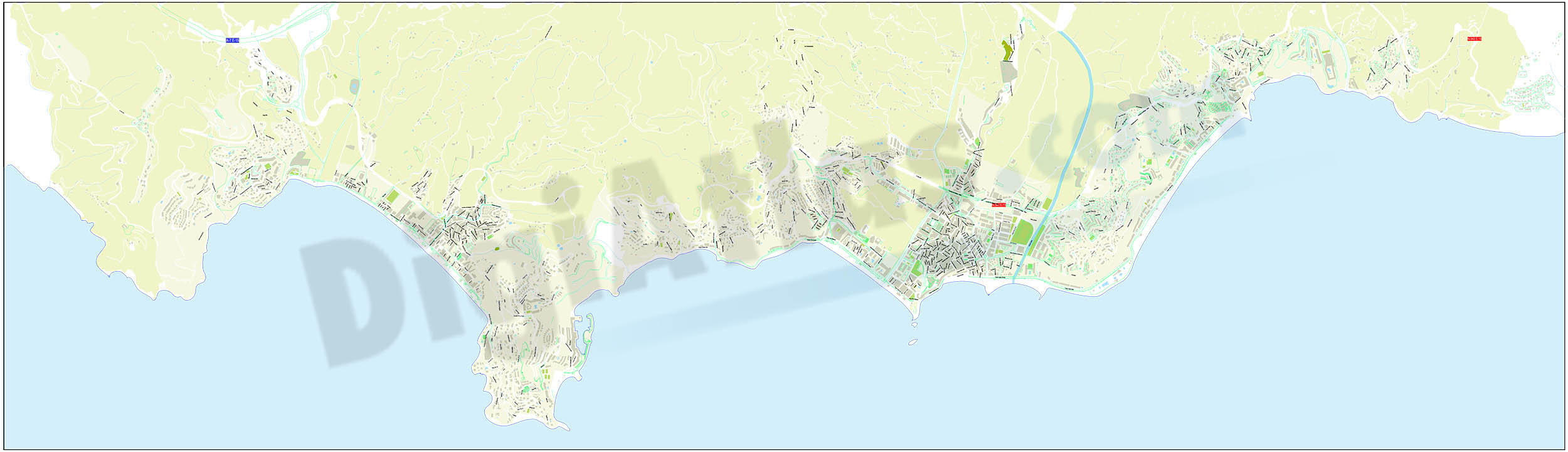Almuñecar - city map