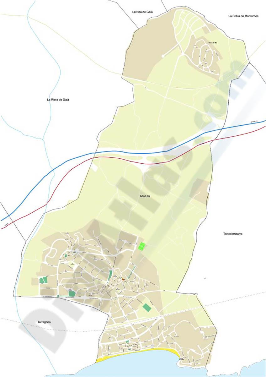 Altafulla - city map