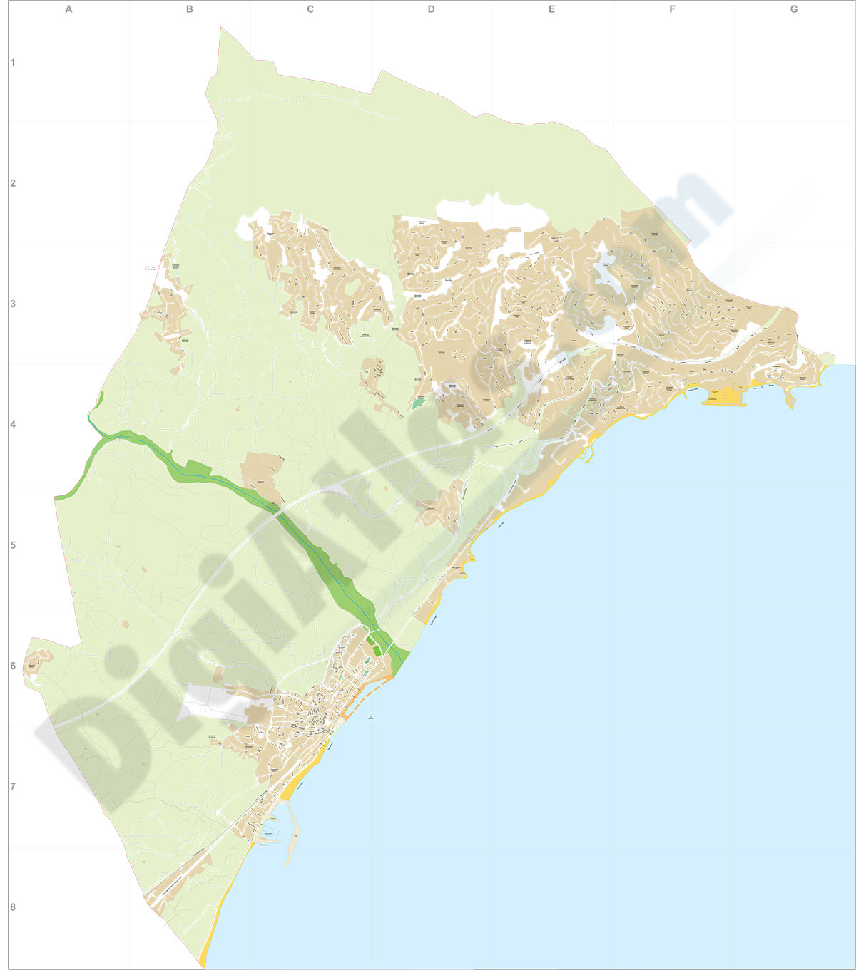 Altea- city map