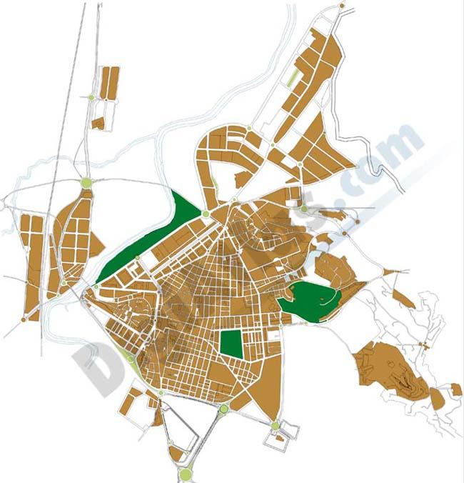 Alzira (Valencia, Spain) - city map
