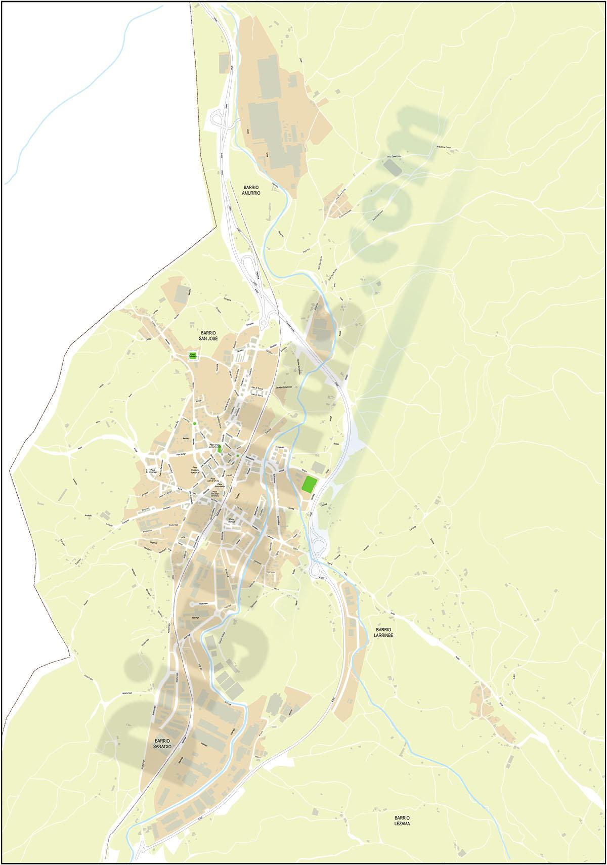 Amurrio y Ondategi - planos callejeros