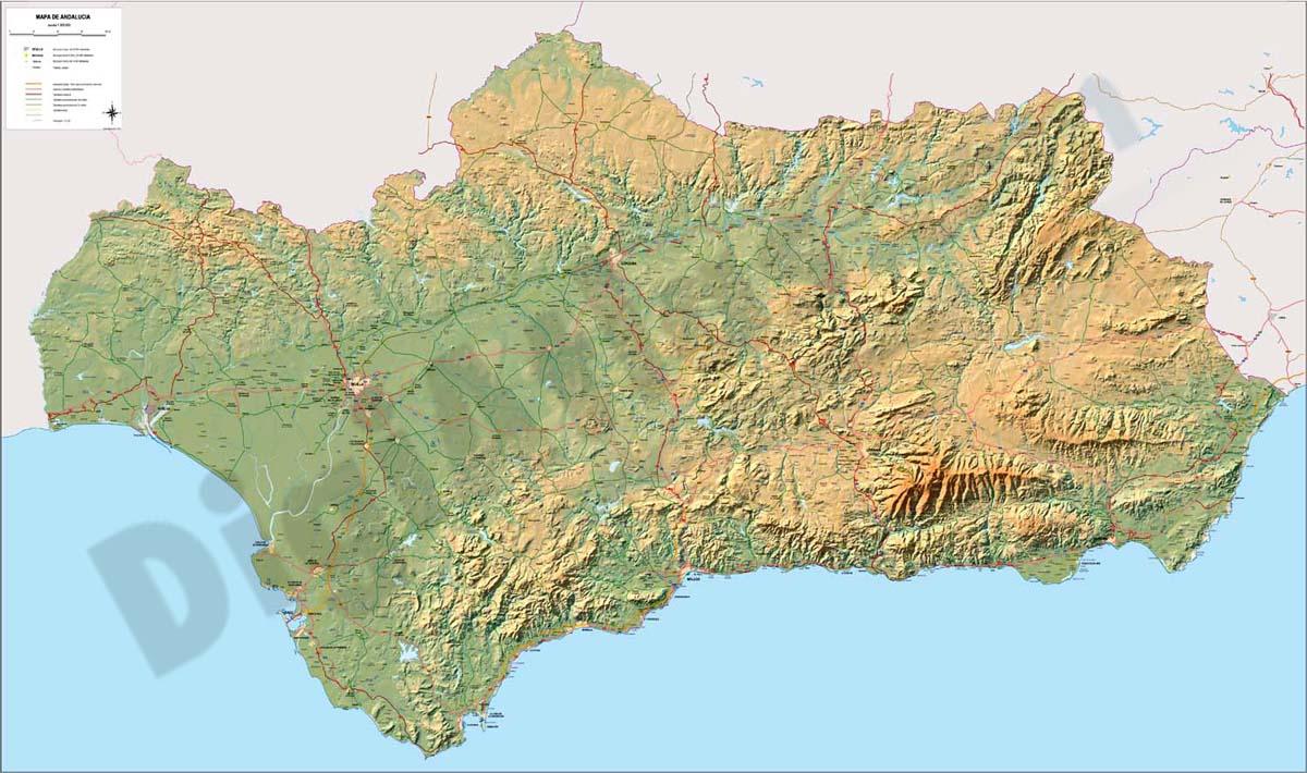 Mapa de Andalucia poster