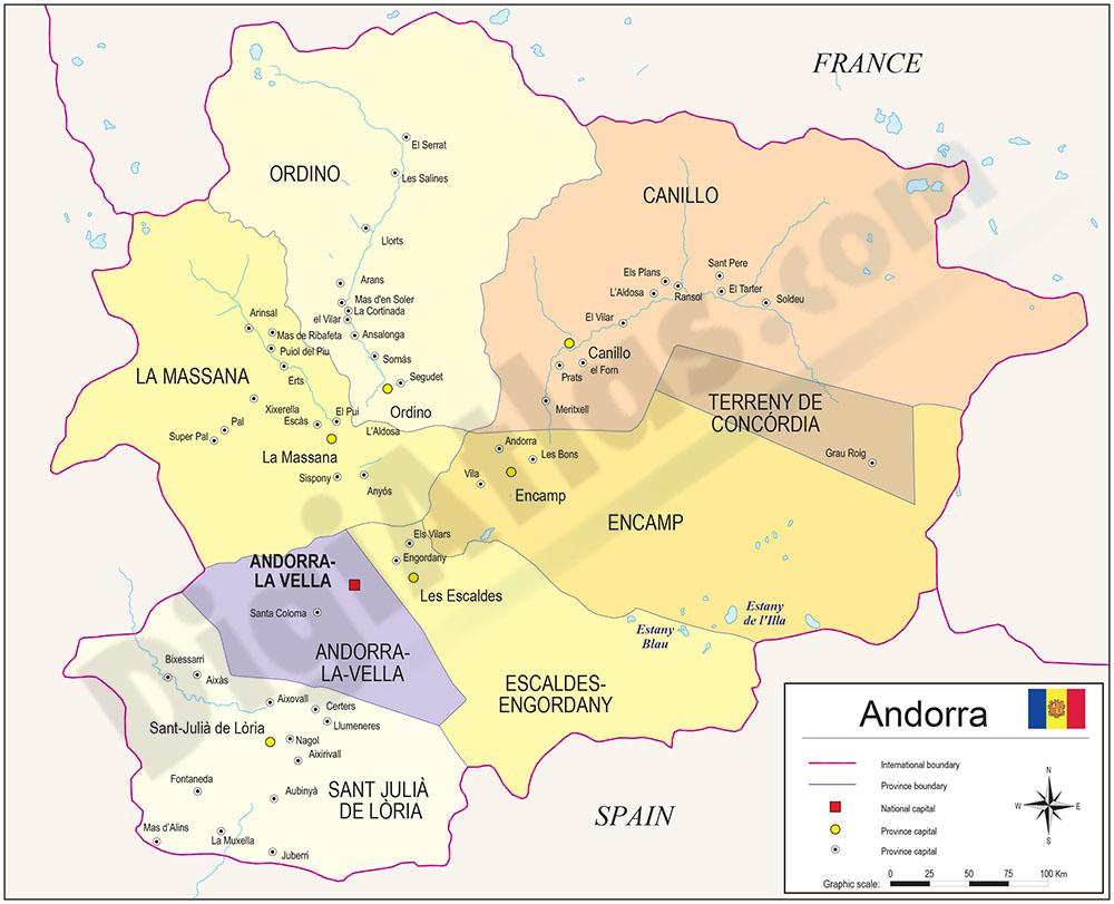 Map of Andorra