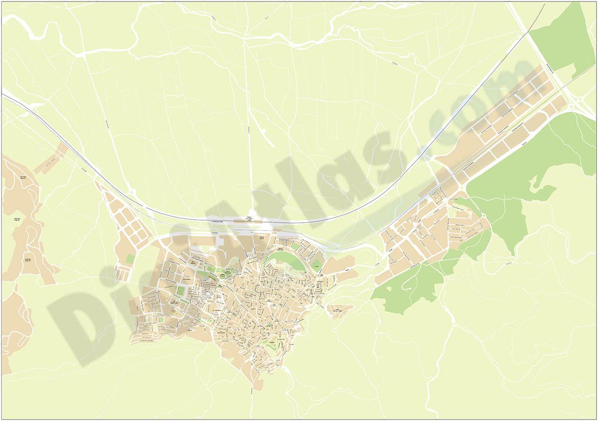 Antequera city map
