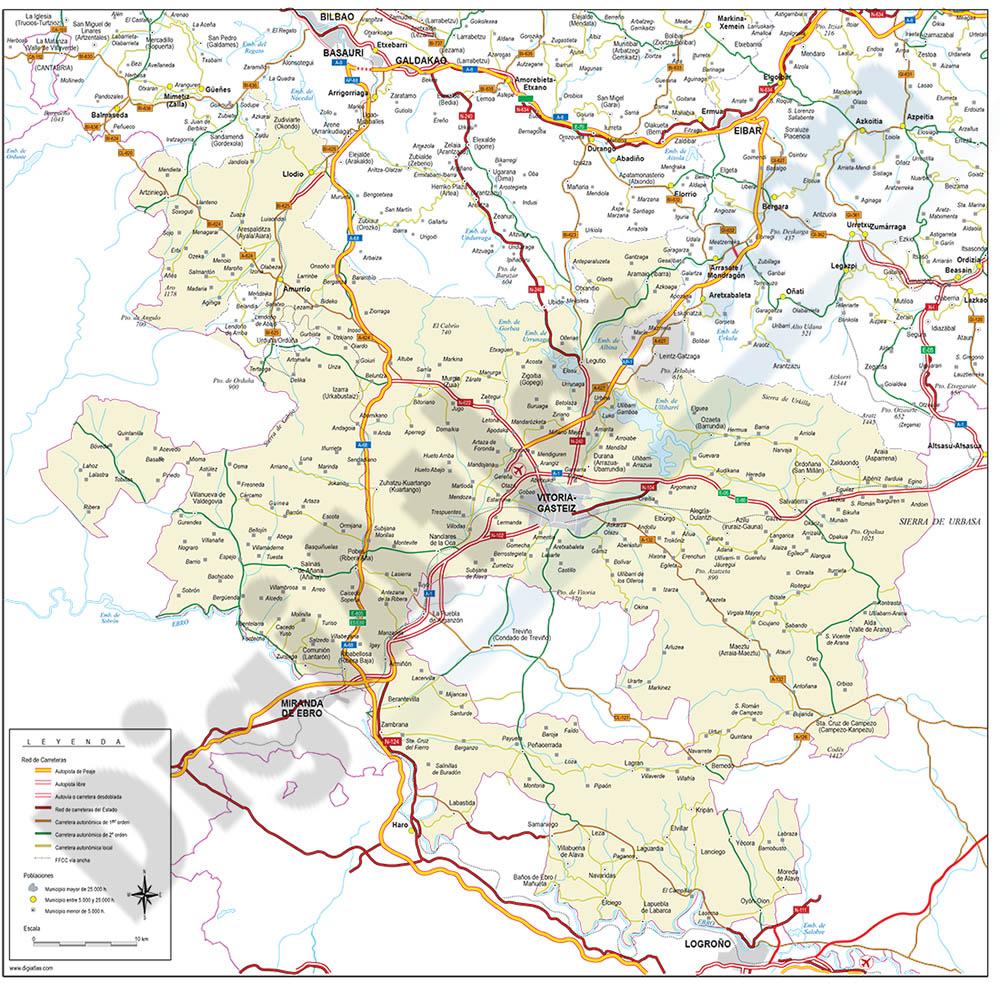 Alava (Araba) - Mapa de la provincia