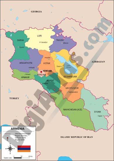 Mapa de Armenia