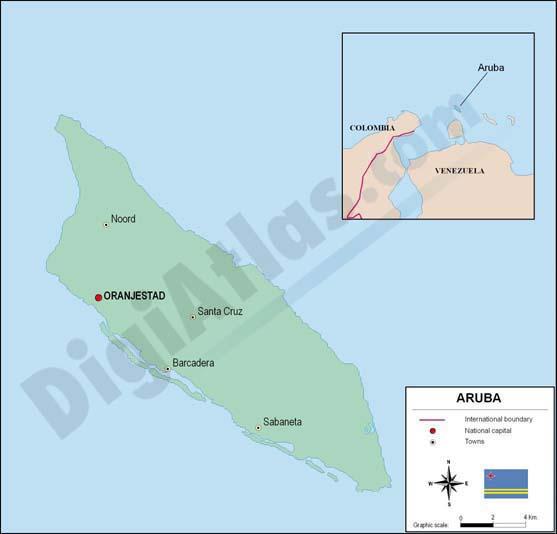 Mapa de Aruba