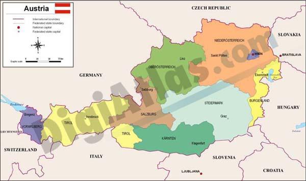 Mapa de Austria