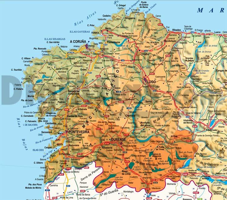 Maps of 17 Autonomous Communities of Spain