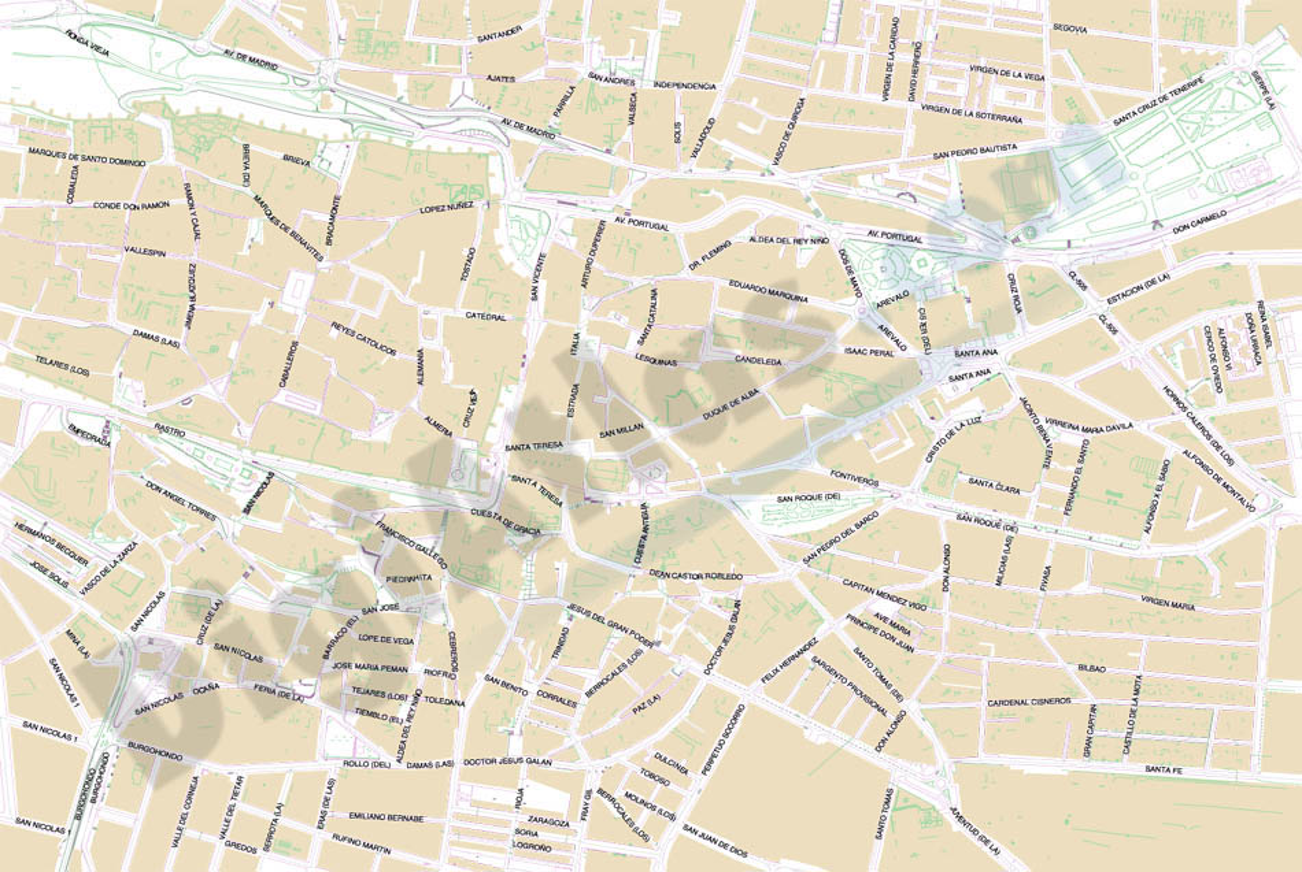 Avila - city map center