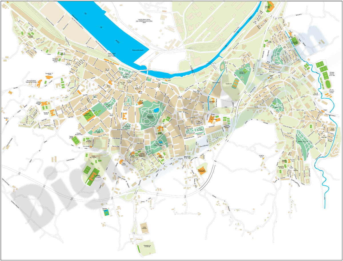 Avilés city map