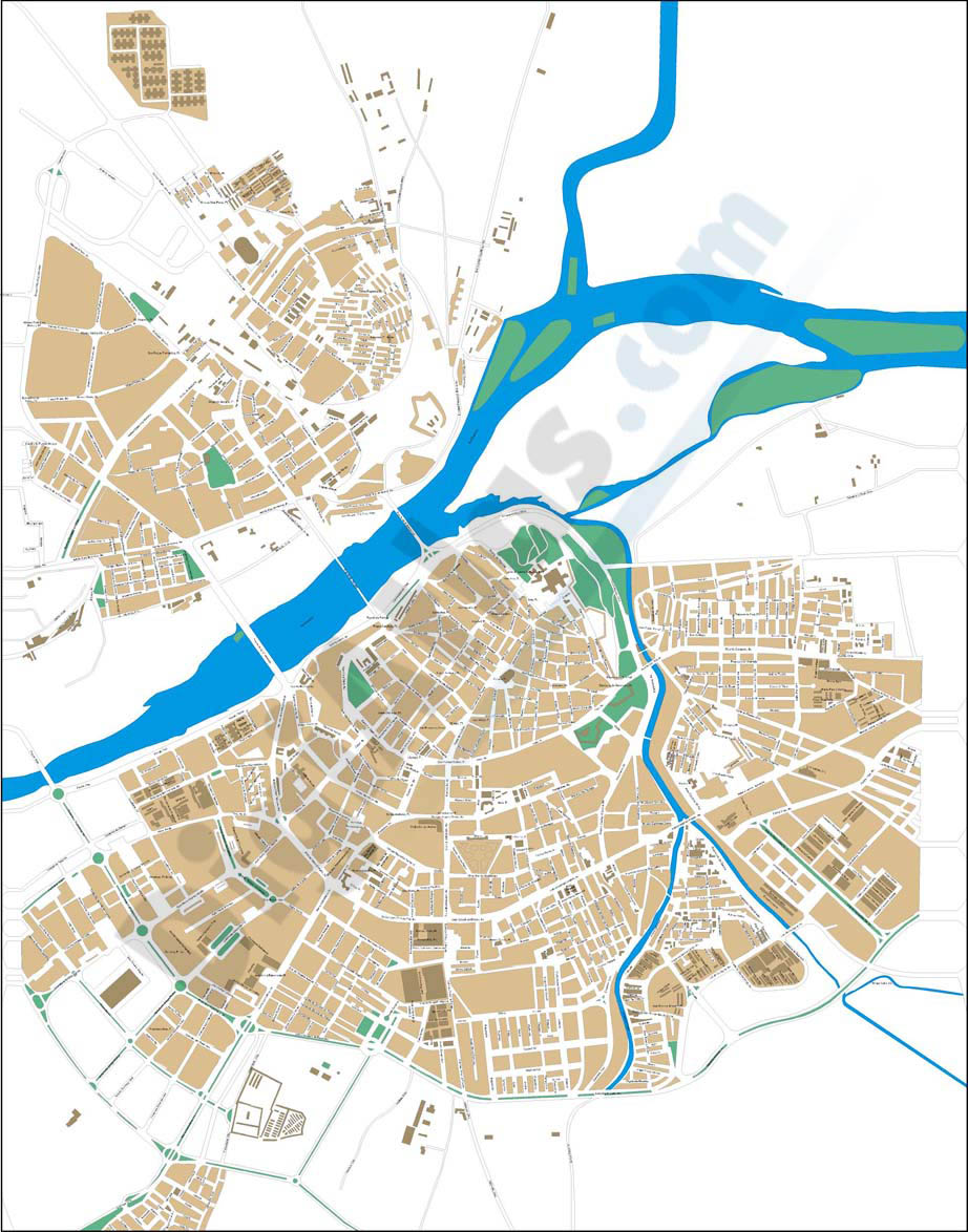 Badajoz (Spain) - city map