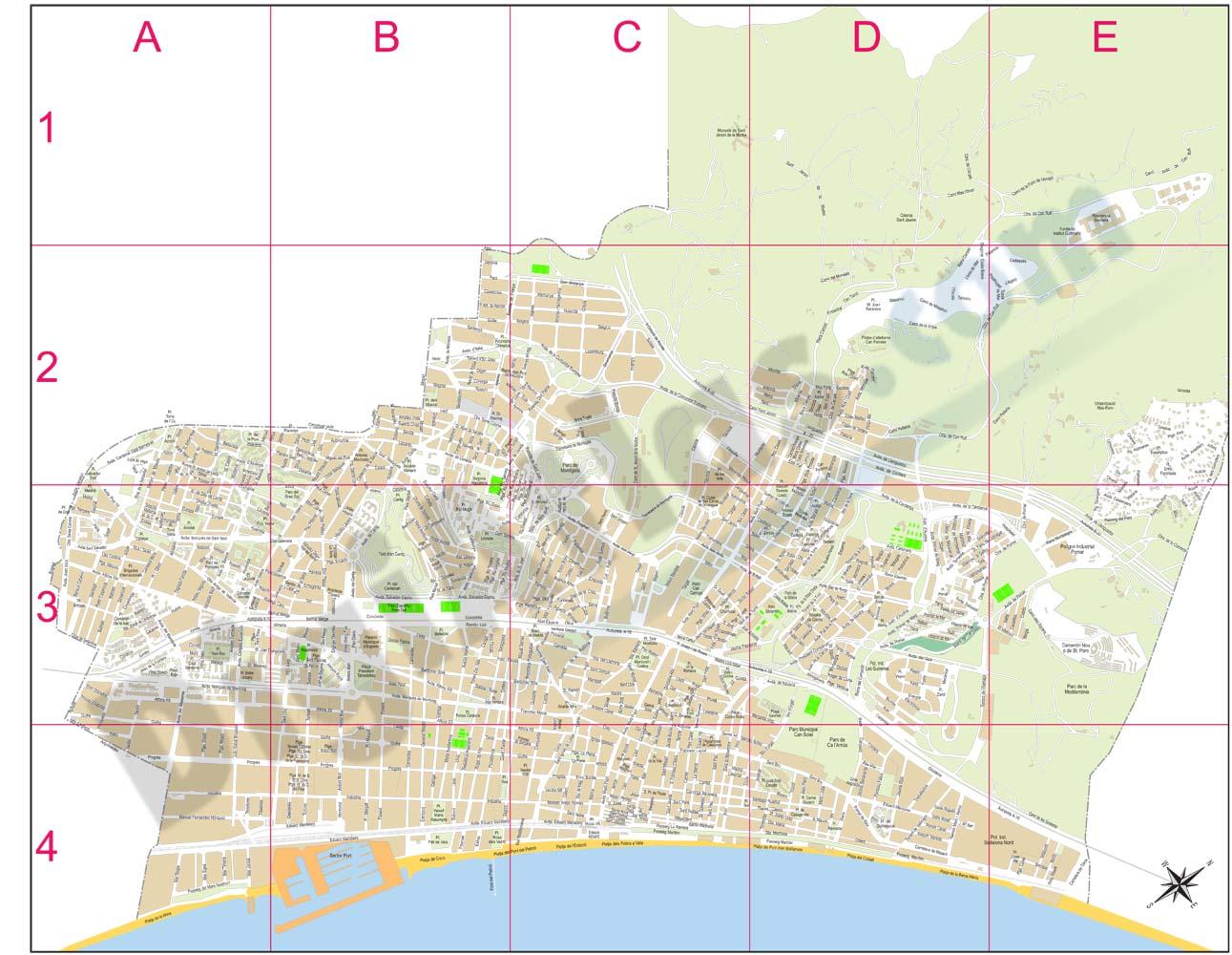 Badalona (Barcelona, Spain) - city map