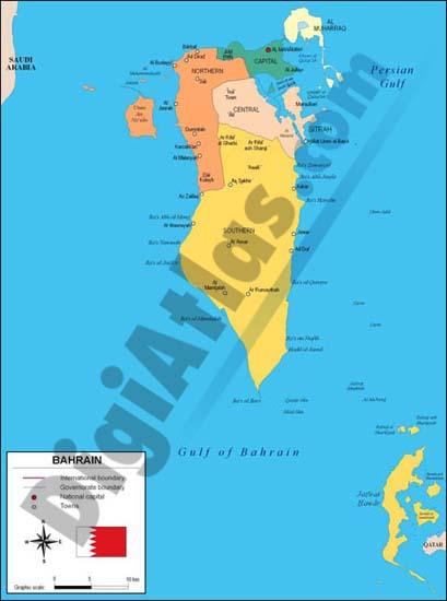 Mapa de Bahrein