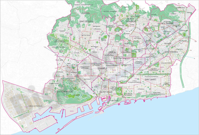 Mapa Codigos Postales Barcelona.Mapas Y Planos Digitales De Espana Y Del Mundo Mapas De