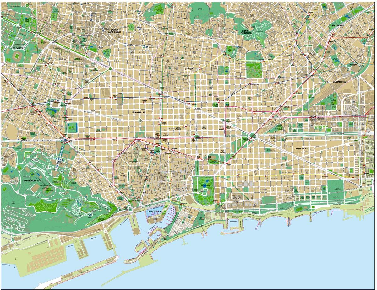 Barcelona - city map