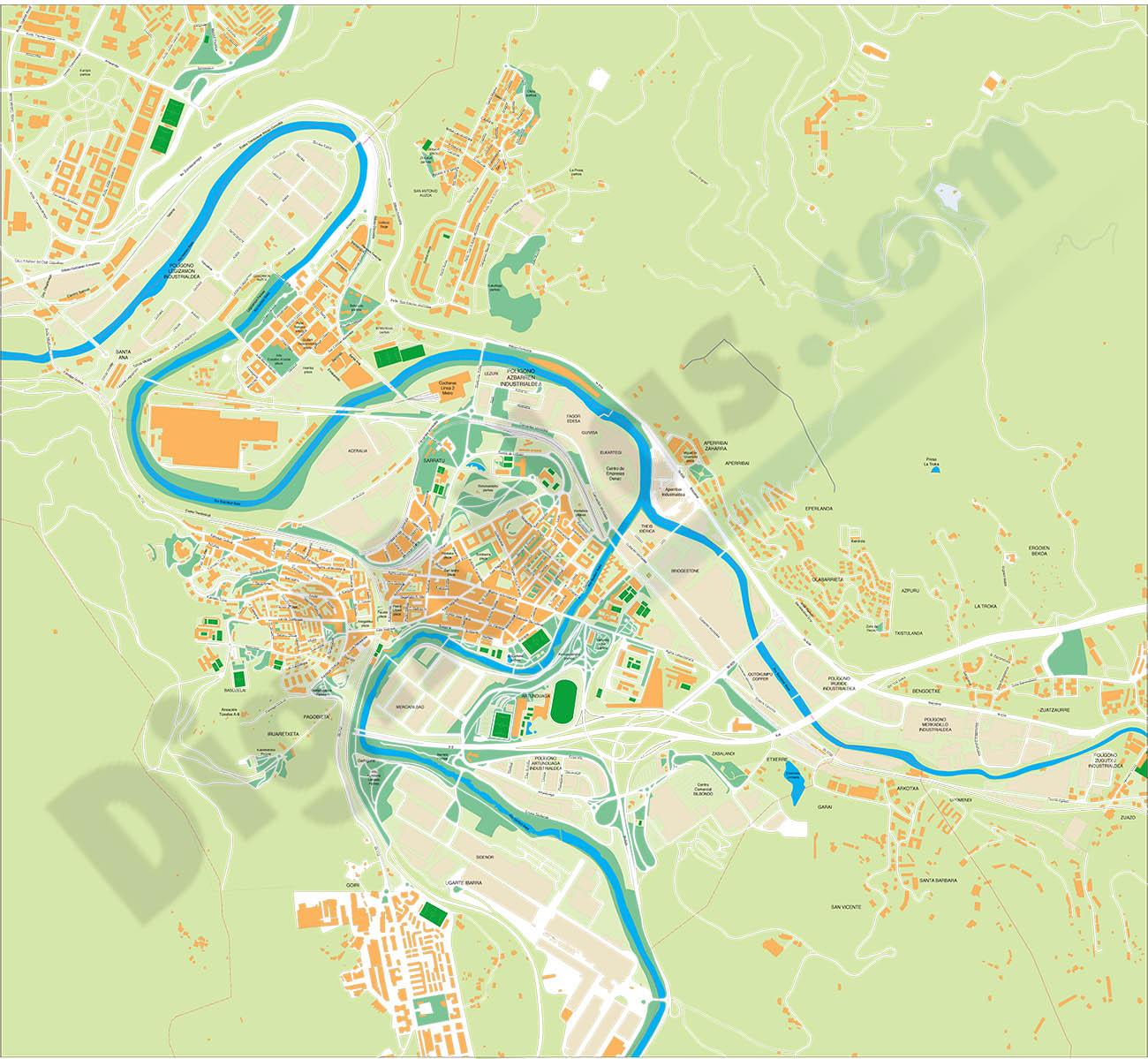 Basauri (Bizkaia) - plano callejero