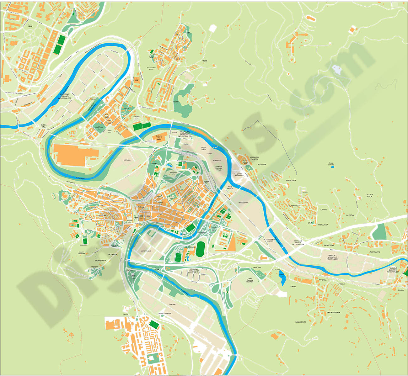Basauri (Biscay, Basque Country, Spain) - city map