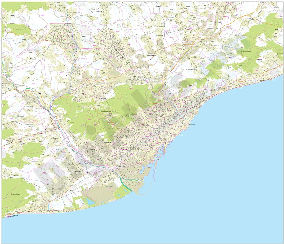 Mapa del Área Metropolitana de Barcelona