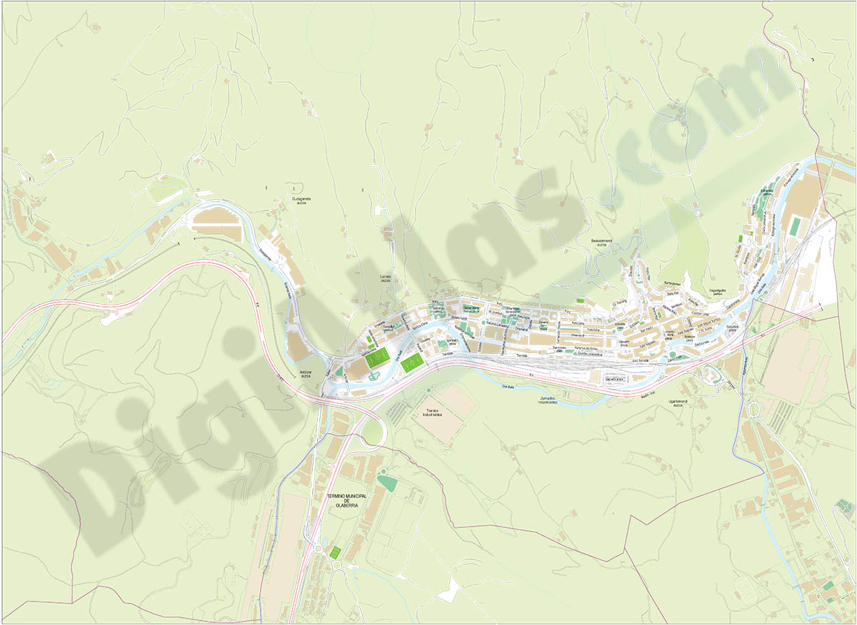 Beasáin (gipuzkoa) - plano callejero