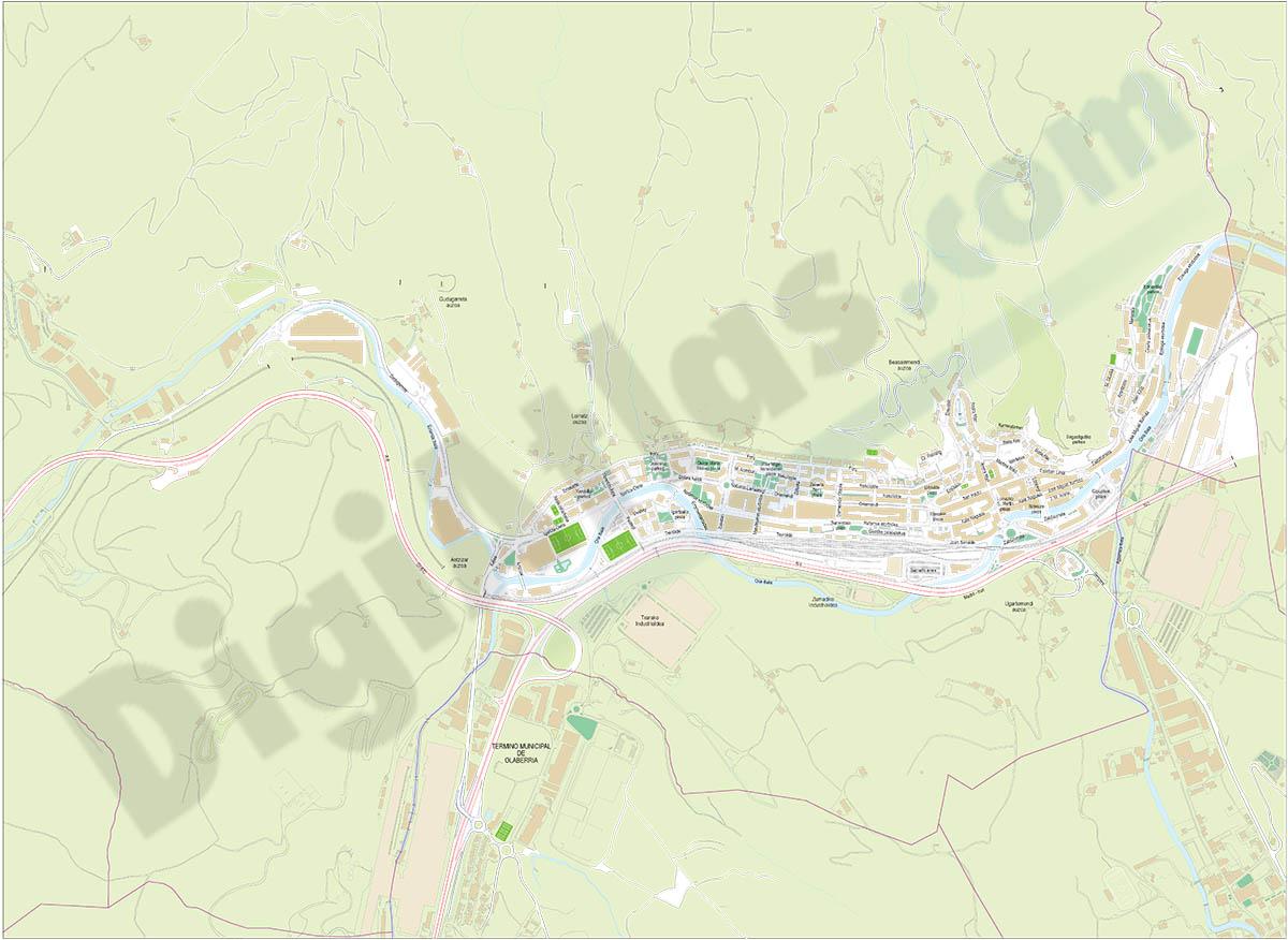 Beasáin - city map
