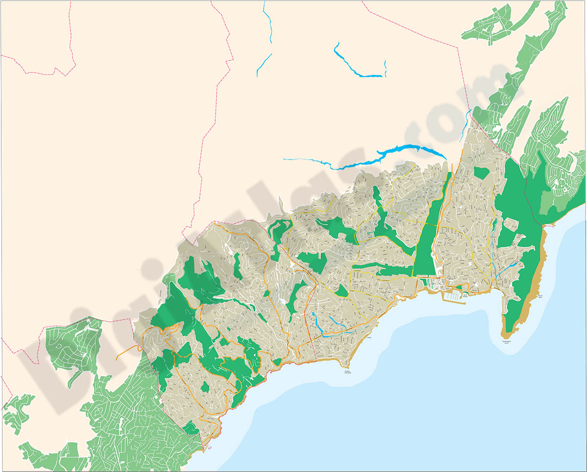 Benissa-Teulada-Moraira - city map