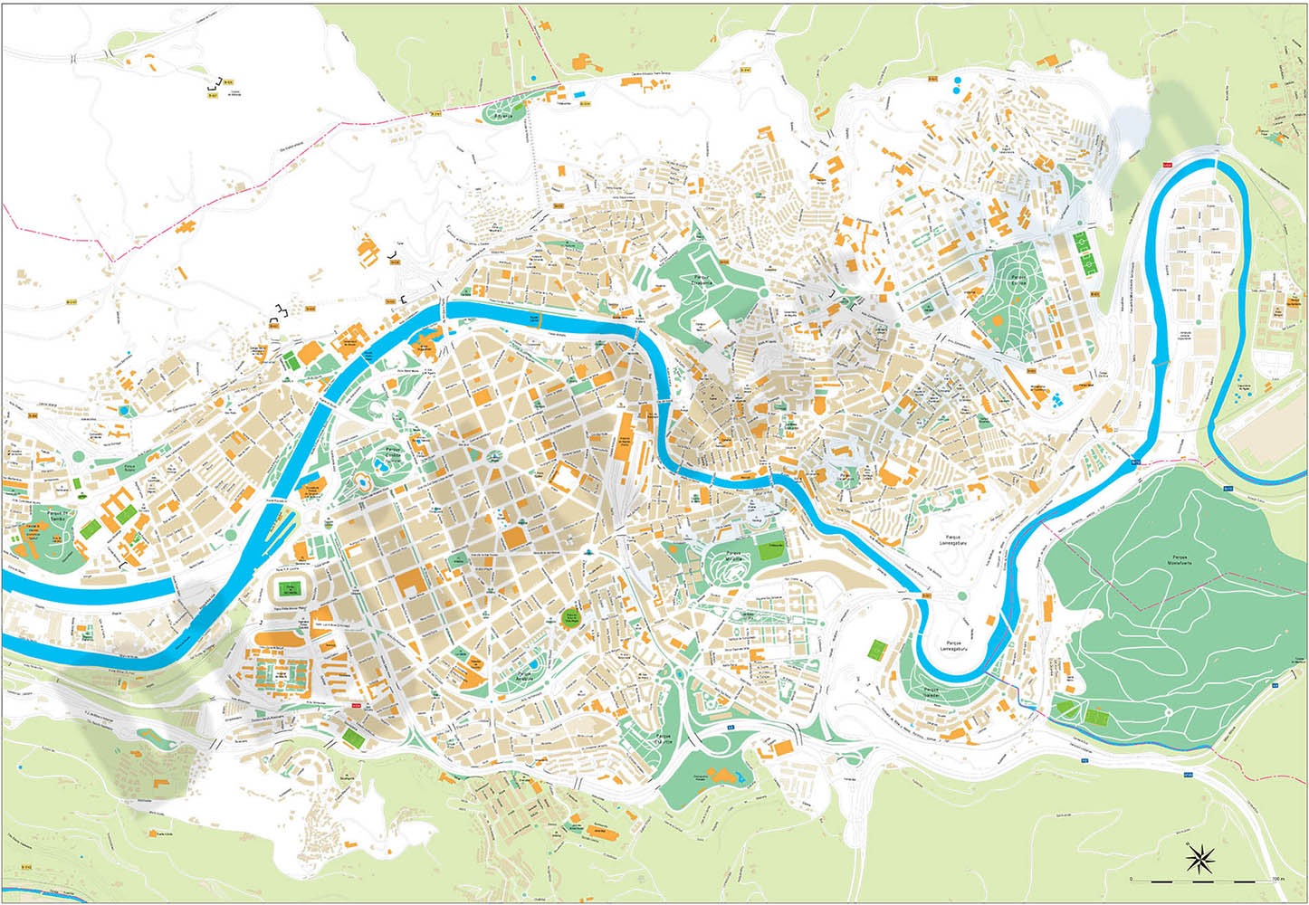 Bilbao city map