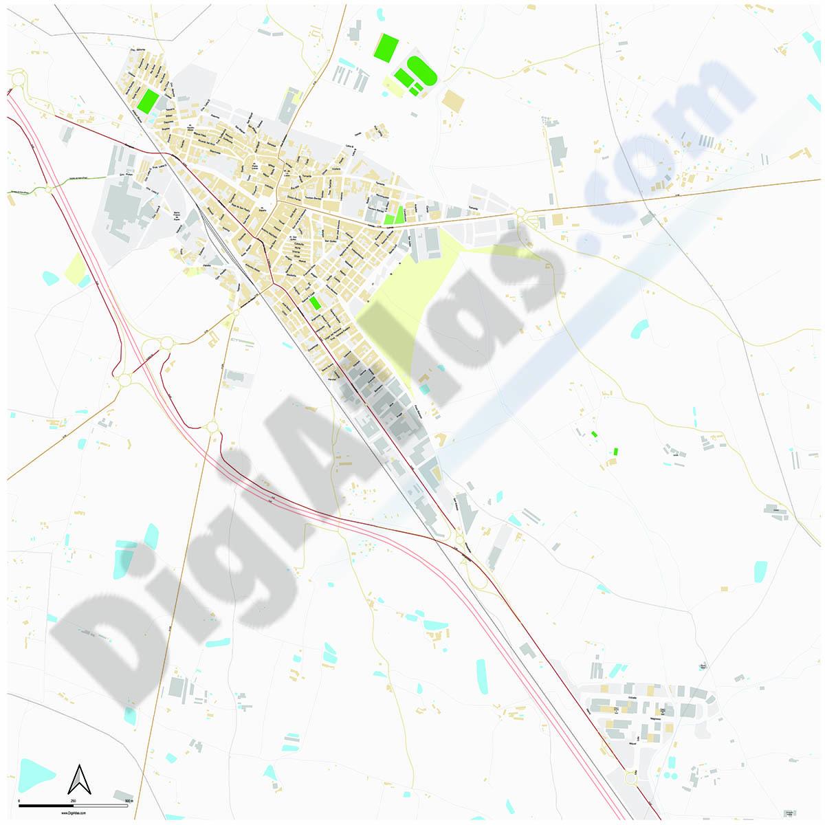 Binefar - city map