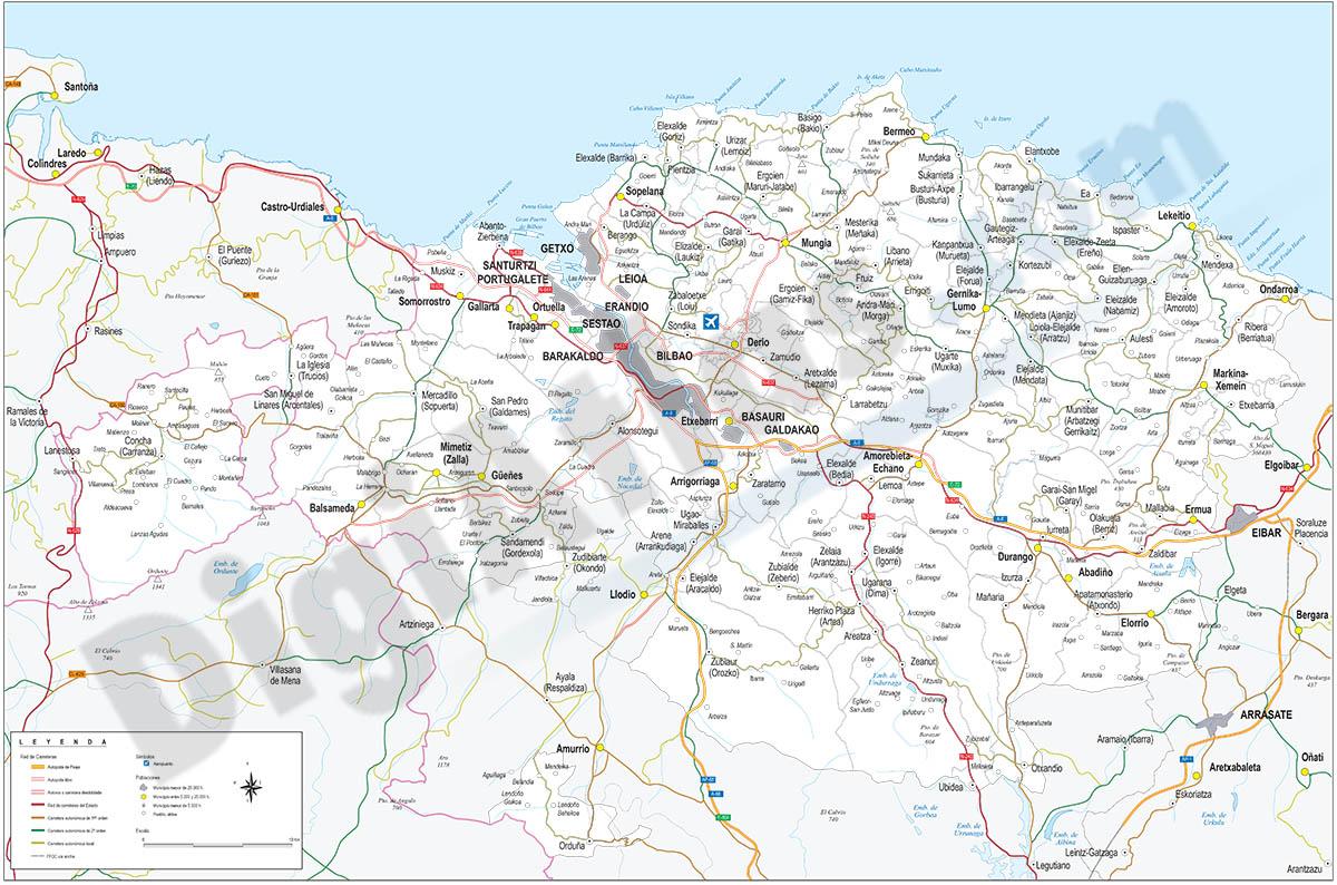 Map of Bizkaia